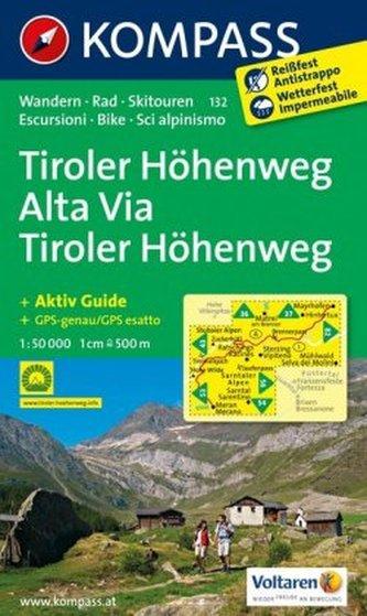 Kompass Karte Tiroler Höhenweg. Alta Via Tiroler Höhenweg
