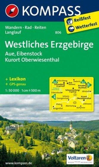 Kompass Karte Westliches Erzgebirge