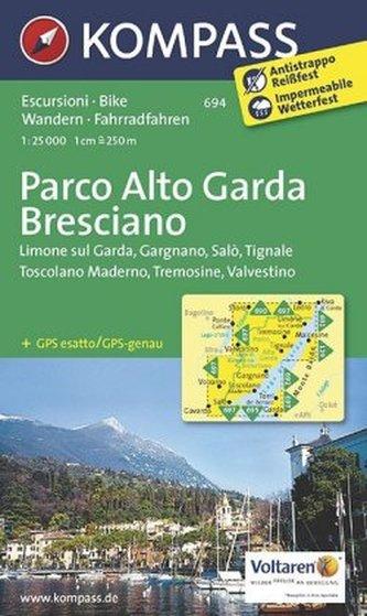 Kompass Karte Parco Alto Garda Bresciano