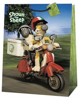 Ovečka Shaun, dárková taška, jumbo 5 (motorka) - neuveden