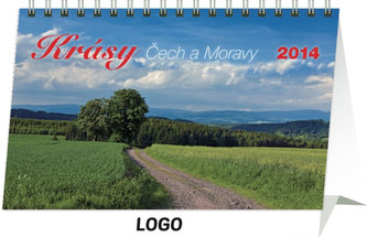 Kalendář 2014 - Krásy Čech a Moravy - stolní