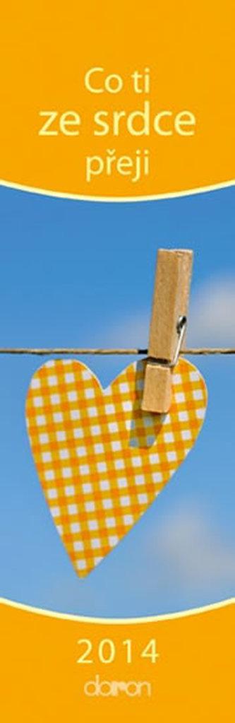 Co ti ze srdce přeji 2014 - záložkový kalendář