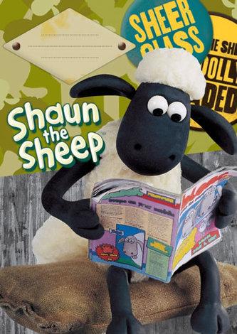 Školní sešit A5 čtverečkovaný - 40 listů - Ovečka Shaun