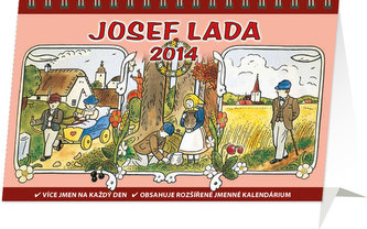 Kalendář 2014 - Josef Lada Podzim - stolní