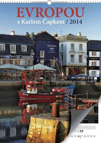 Kalendář 2014 - Evropou s Karlem Čapkem - nástěnný s prodlouženými zády