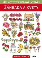 Záhrada a kvety - 200 motívov krížikovej výšivky (slovensky)