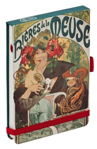 Alfons Mucha Bieres flip-pad notes