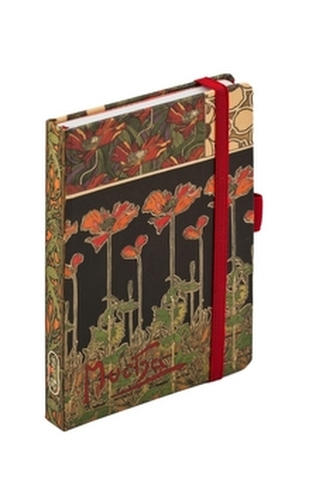 Alfons Mucha Dark Poppies journal notes