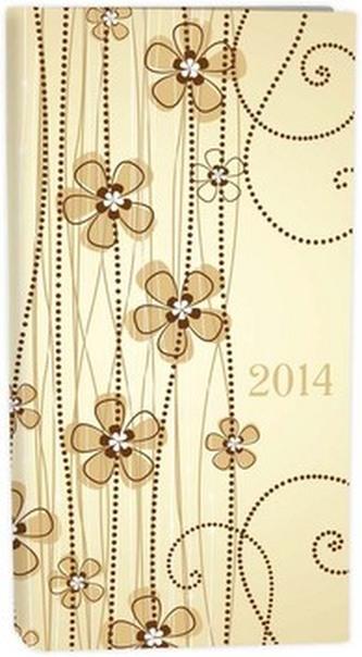 Diář A6 LYRA týdenní flowers 2014