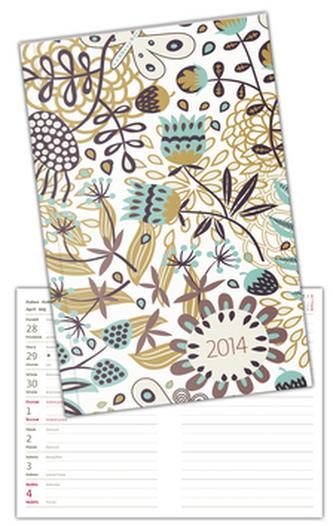 Diář 2014 Poketto Floral