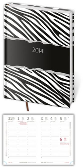 Diář 2014 Vario Zebra