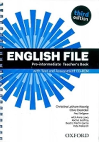 English File Pre-Intermediate Teacher´s Book with Test and Assessment CD-ROM - Christina Latham-Koenig; Clive Oxenden; Paul Selingson