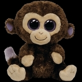 Plyš očka opice velká tmavě hnědá