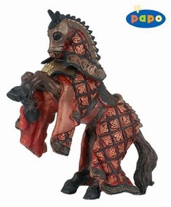 Kůň krále rytířů červený