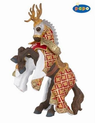 Kůň rytíře Von Jelena červený