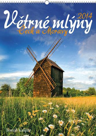 Větrné mlýny Čech a Moravy - nástěnný kalendář 2014