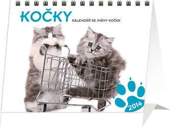 Kočky se jmény koček Praktik - stolní kalendář 2014