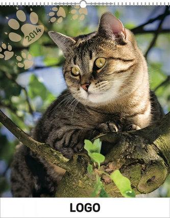Kočky Praktik - nástěnný kalendář 2014