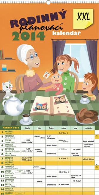 Rodinný plánovací XXL - nástěnný kalendář 2014