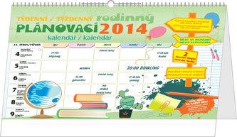 Týdenní rodinný plánovací - stolní kalendář 2014