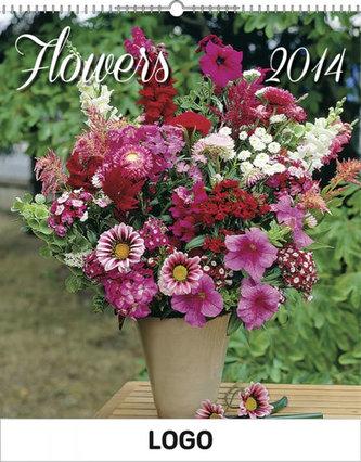Květiny Praktik - nástěnný kalendář 2014