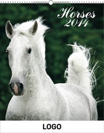Koně Praktik - nástěnný kalendář 2014