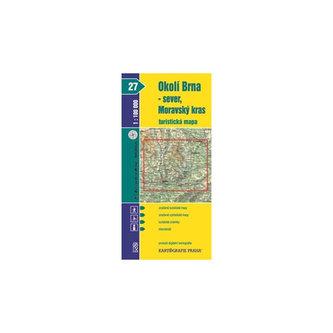 1:100T (27)-Okolí Brna-sever/Moravský kras (turistická mapa)