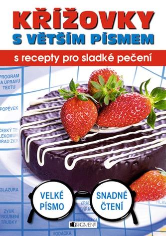 Křížovky s větším písmem s recepty pro sladké pečení
