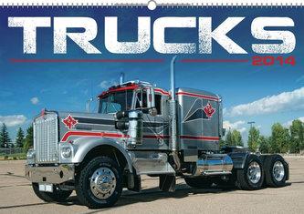 Kalendář 2014 - Trucks - nástěnný s prodlouženými zády