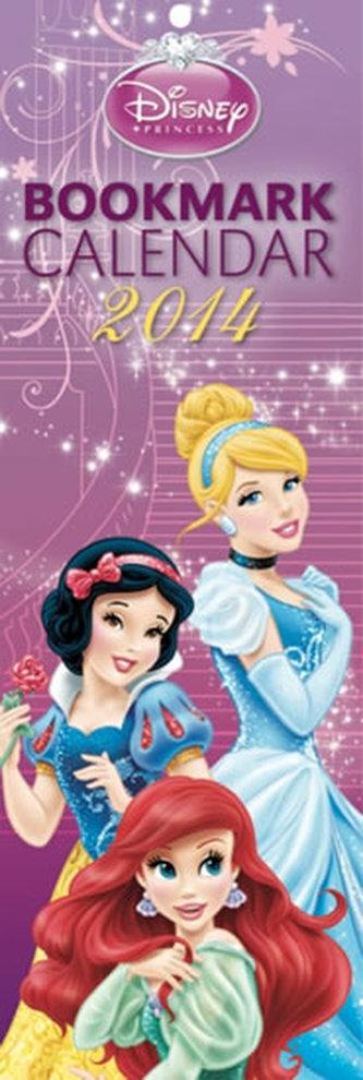 Kalendář 2014 - W. Disney Princezny kalendář s 12 záložkami do knihy