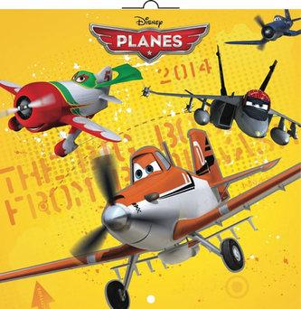 Kalendář 2014 - W. Disney Letadla - nástěnný poznámkový (ČES, SLO, MAĎ, ANG)