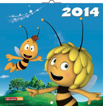 Kalendář 2014 - Včelka Mája - nástěnný poznámkový (ČES, SLO, MAĎ, POL)