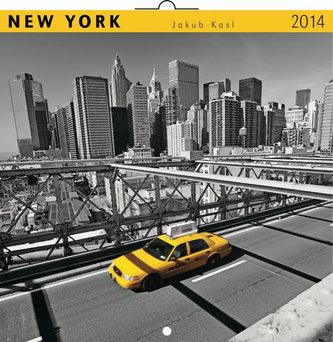 Kalendář 2014 - New York Jakub Kasl - nástěnný poznámkový (ČES, SLO, MAĎ, POL, RUS, ANG)