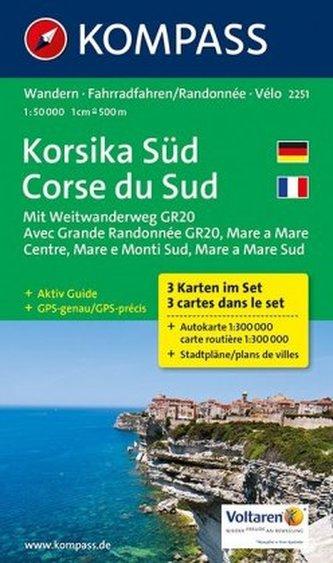 Korsika Süd 2251 (sada 3 mapy)