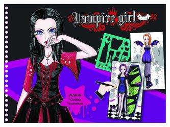 Fashion Girl kreativní skicák - Upíří návrhářka