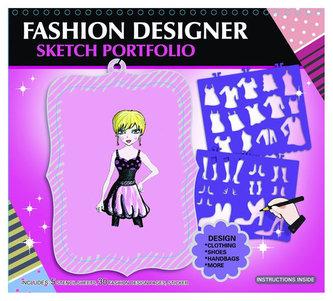 Fashion Girl kreativní skicák - Módní návrhářka (růžová)