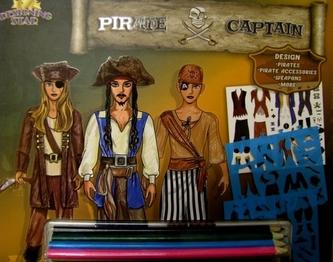 Kreativní skicák - Piráti (s pastelkami)