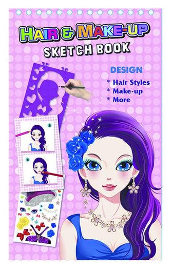 Fashion Girl kreativní skicák - Vlasová & Make-up stylistka