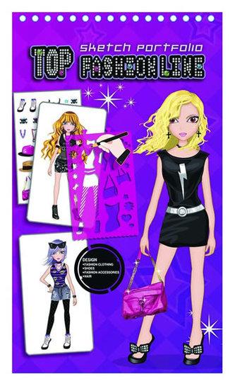 Fashion Girl kreativní skicák - Módní návrhářka (fialová)
