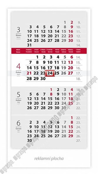 Kalendář 2014 - Čtyřměsíční mini - stolní