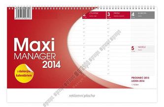 Kalendář 2014 - Maximanager červený - stolní