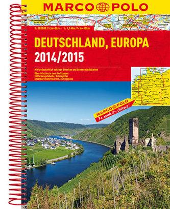 Německo, Evropa/atlas-spirála 14/15  1:300T MD