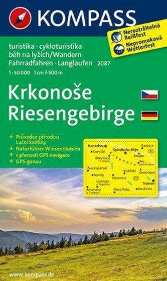 Kompass Karte Riesengebirge, m. Kompass Naturführer Wiesenblumen. Krkonose