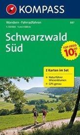 Kompass Karte Schwarzwald Süd, 2 Bl. m. Kompass Naturführer Wiesenblumen