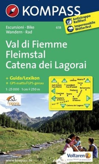 Fleimstal-Catena dei Lagorai  618   NKOM  1:25