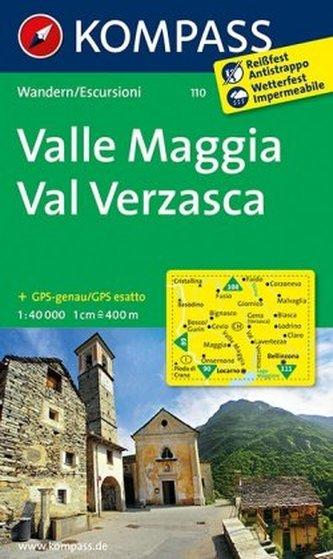 Kompass Karte Valle Maggia, Val Verzasca