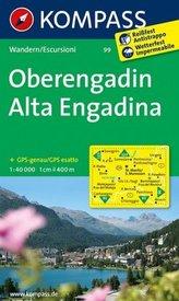 Kompass Karte Oberengadin. Alta Engadina