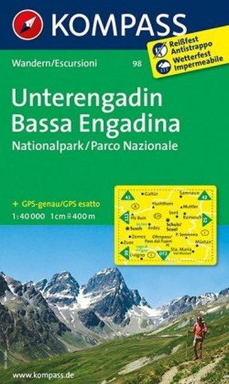 Kompass Karte Unterengadin. Bassa Engadina