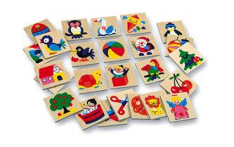 Dřevěné obrázky - značky pro školky 2 - 25 obrázků