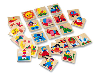 Dřevěné obrázky - značky pro školky 1 - 25 obrázků